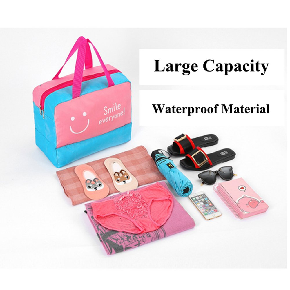 Decdeal Wet Dry Separated Bags Handbag for Beach Swimming Gym Spa Water Park Surfing Rafting