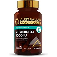 Australian NaturalCare - General Health Support - 1000 IU Vitamin D3 Capsules (60 Count)