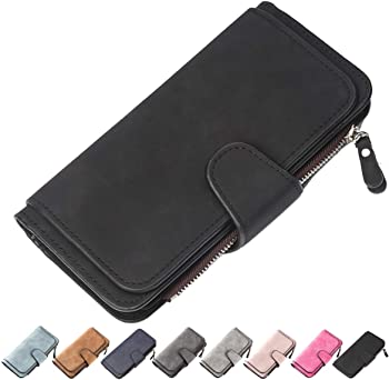 Laynos Women's Leather Clutch Purse Wallet