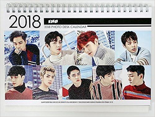 Sehun Exo 2018 2019 Photo Desk Calendar K Pop Sehun
