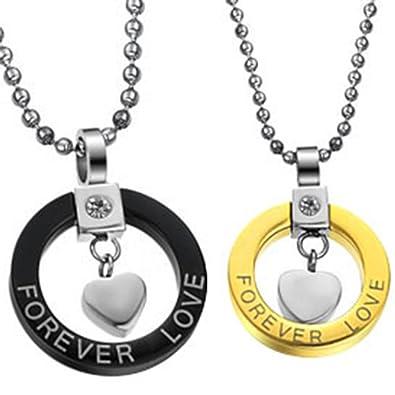 JewelryWe Joyas collar con hombres mujer de acero inoxidable ...