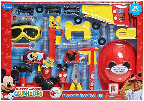 Disneys Mickey Mouse Club House 50 Piece Mousekadoer Tool Set