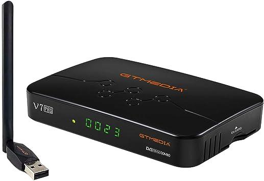 Comprar GTMEDIA V7 Pro Combo DVB-S / S2 / S2X + T / T2 Decodificador Receptor de TV Digital WiFi Incorporado / Multi-PLP / Suport Full PowerVu, Biss Key, Ccam NEWCAM, Youtube-1080P Full HD por Aoxun