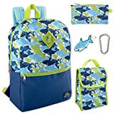 Boy's 5 in 1 Full Size Backpack Set (Sharks)