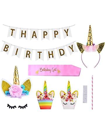 Queta Unicornio Decoracion Cumpleaños Tartas Fiesta Decoraciones para Niños Chicas Fiesta de Cumpleaños Baby Shower 30