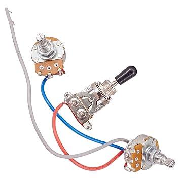 Sharplace Kit De Cableado Circuito Completo 2-500k Interruptor 3 Vías Para Guitarra Eléctrica: Amazon.es: Instrumentos musicales