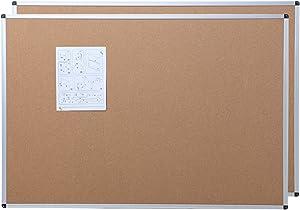 VIZ-PRO Cork Notice Board, 36 X 24 Inches, 2 Pack, Silver Aluminium Frame