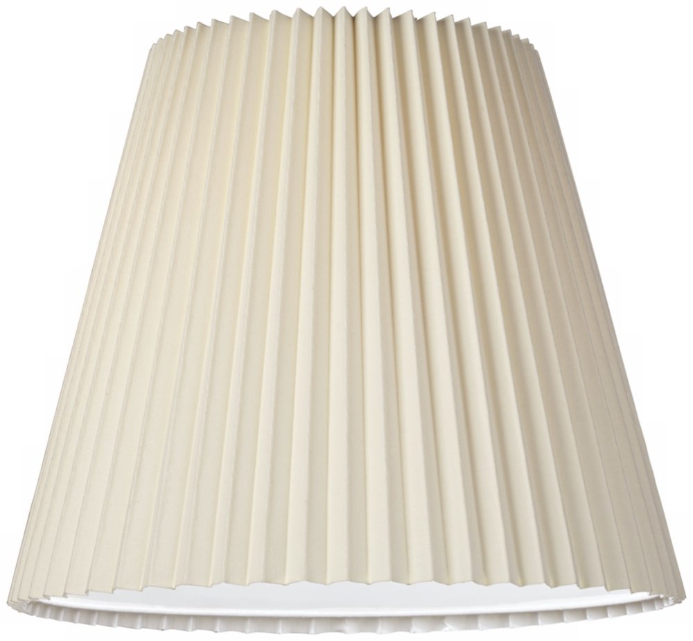 Ivory Pleated Shade 10x17x14.75 (Spider) by Brentwood (Image #2)