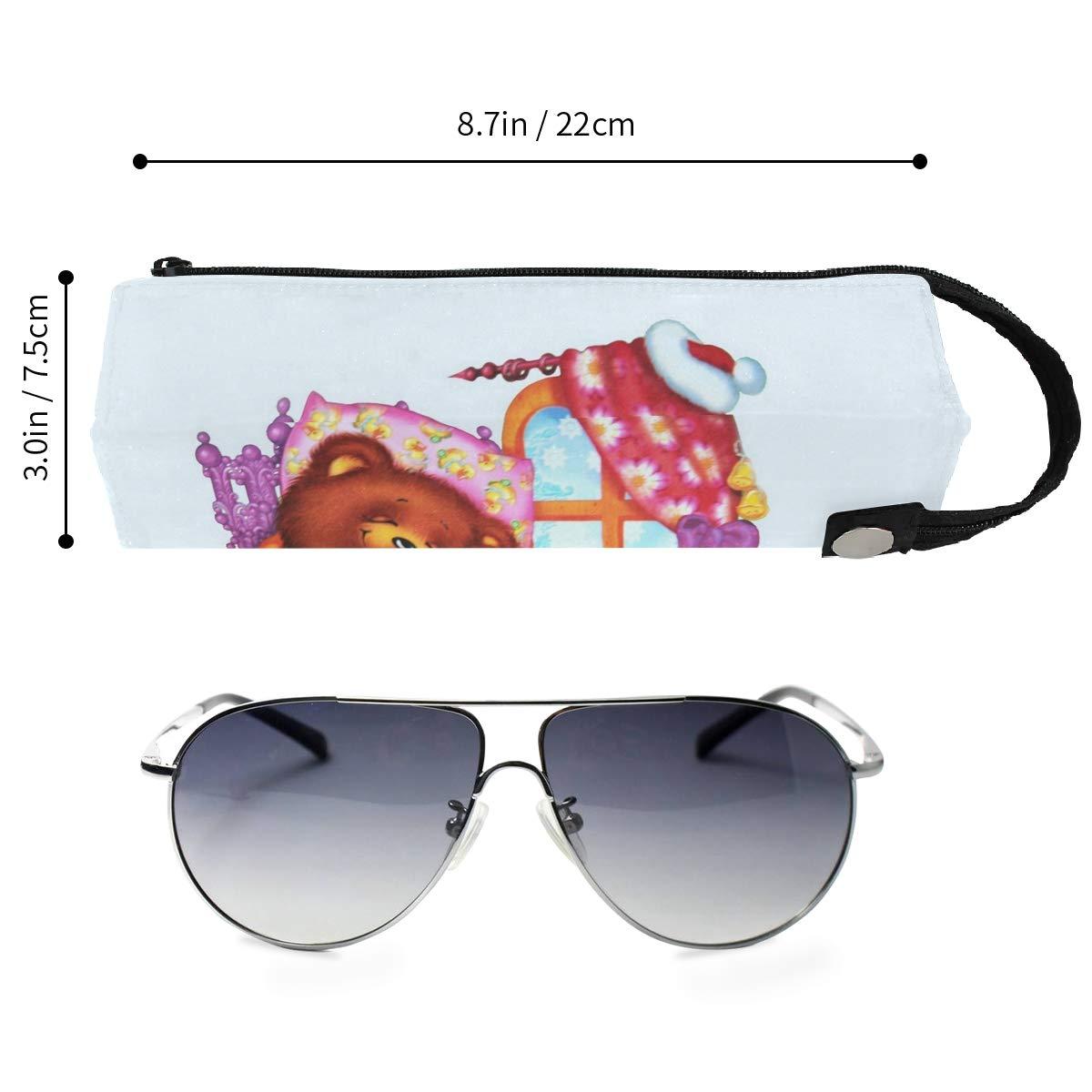 Underwater Sea Ocean Tropical Fish Glasses Case Portable Soft Sunglasses Ball Pen Bag Protective Box