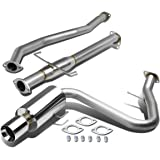 "Scion tC ANT10 4"" Rolled Muffler Tip Stainless Steel Catback Exhaust System"
