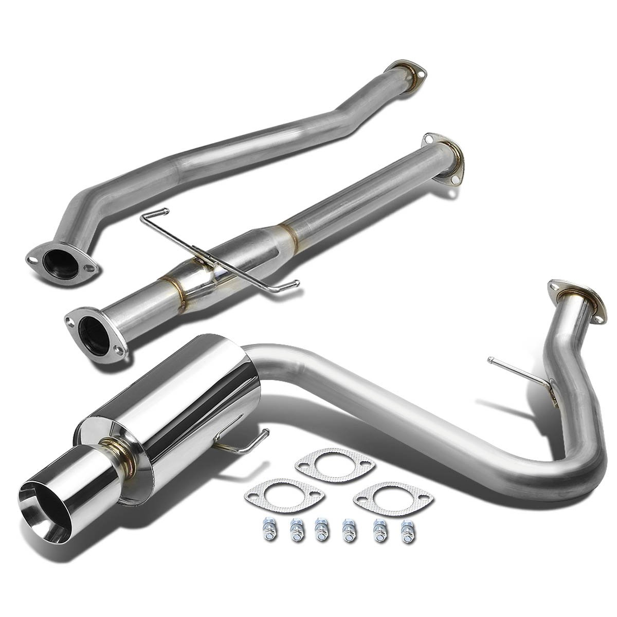 For Scion tC ANT10 4 Rolled Muffler Tip Stainless Steel Catback Exhaust System