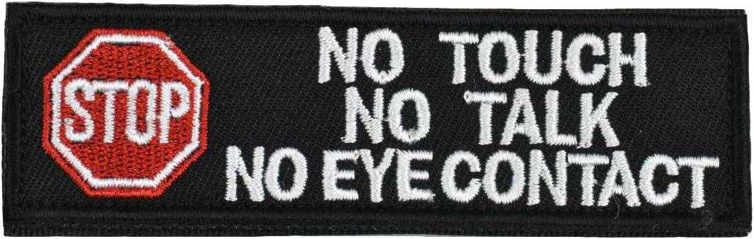 JFFCESTORE Service Vests//Harnesses Emblem Embroidered Fastener Hook /& Loop Patch