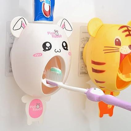 Bebé dispensadores de cepillo de dientes, los niños Manos libres dispensador de dientes BigNoseDeer niños