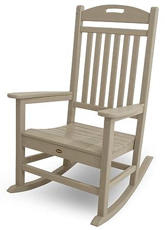 trex outdoor furniture yacht club rocker chair sand castle