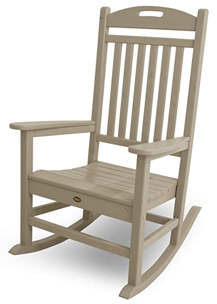 Superb Trex Outdoor Furniture Yacht Club Rocker Chair, Sand Castle