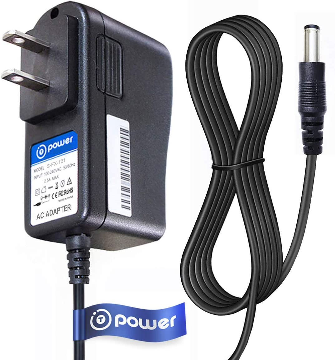 T POWER 12v Ac Dc Adapter Charger Compatible with RCA , Pyle , DBPOWER , Sylvania, Synagy, Apeman, Craig, COOAU, Dynex, Impecca, Magnavox , UEME Portable Dvd Player Power Supply