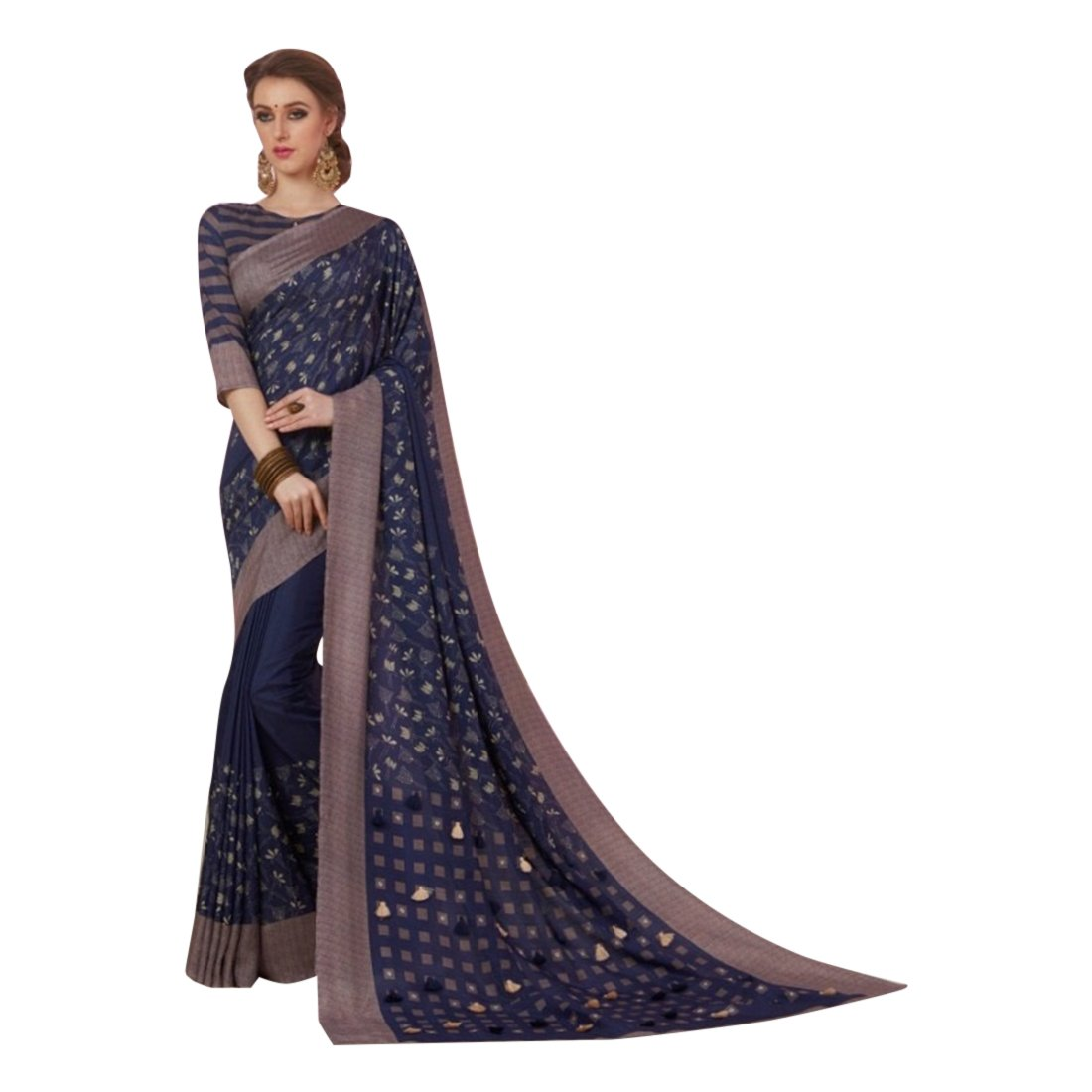 Cotton Silk Indian Bollywood Designer Saree Sari Wedding Ethnic Blouse Ceremony Formal 896