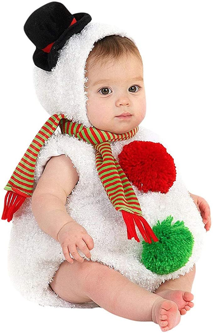 Pelele Navidad Bebe niño niña Conjunto Mameluco de Felpa + Bufanda ...