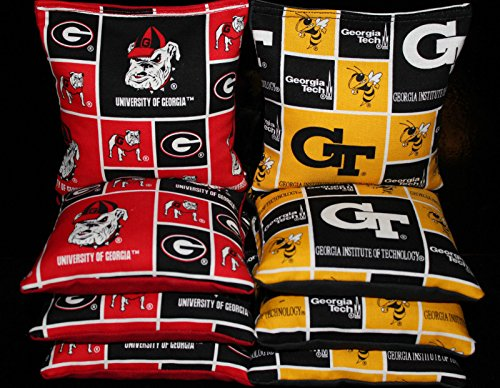 University of GEORGIA BULLDOGS & GEORGIA TECH CORNHOLE BEAN BAGS ACA Regulation