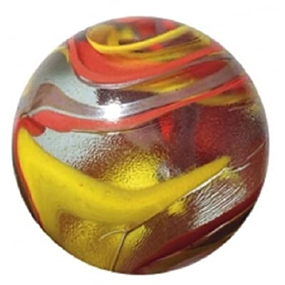 OnlineScienceMall Enormous Glass Fiesta Marble - 50mm with Stand: Toys & Games