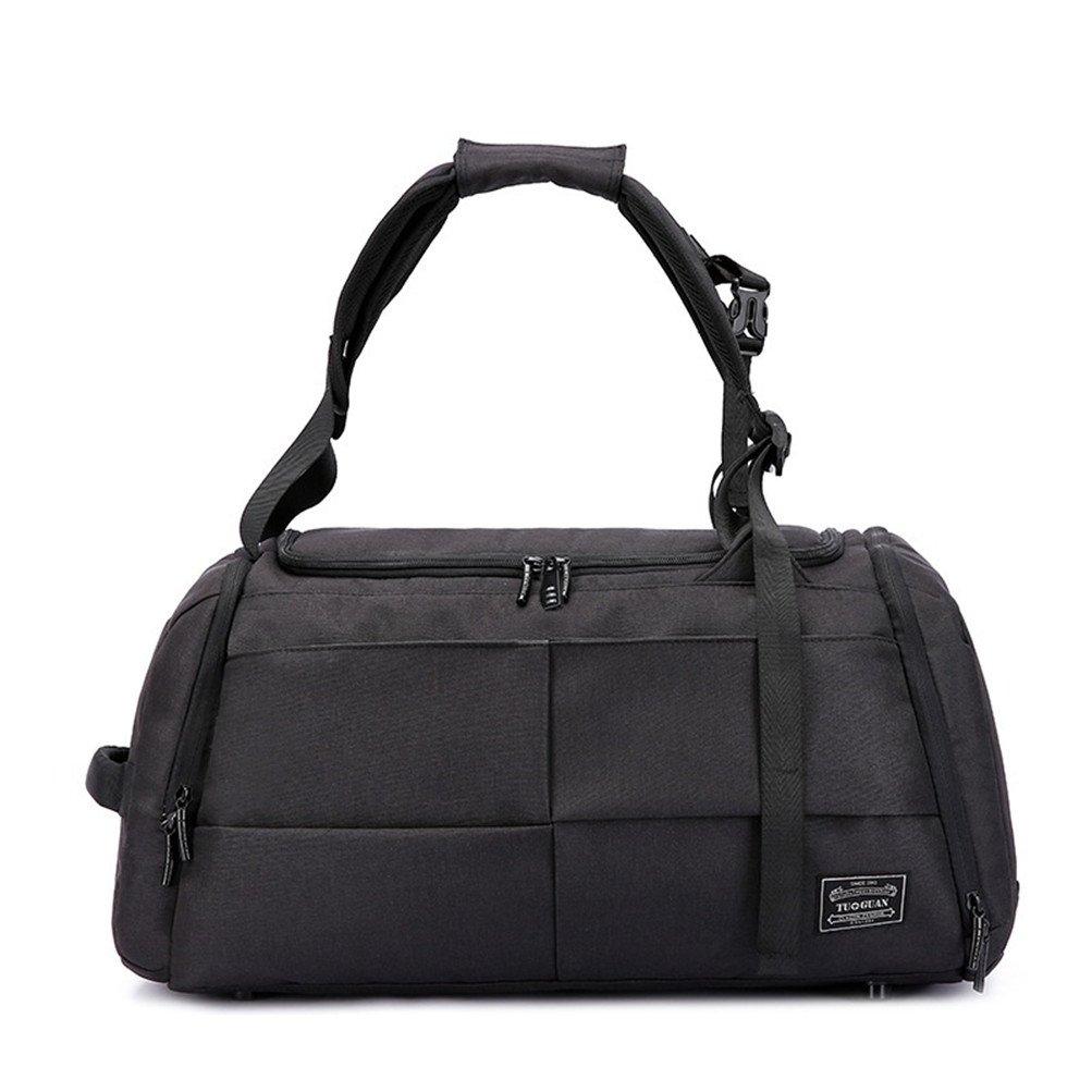719fbf72597 Amazon.com   Men s high capacity travel bag luggage bag duffel Bag gym  fitness bag (black)   Sports Duffels