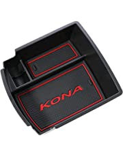 RUIYA Consola Central con reposabrazos Personalizada para 2018 Kona, Bandeja de Almacenamiento, Organizador de