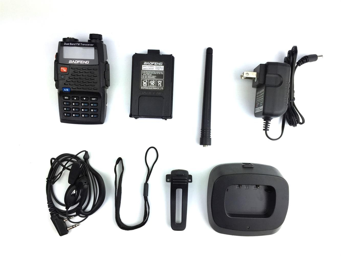 Baofeng UV-5R 4th Generation Black Knight 136-174/400-520mHZ Two Way Radio Professional FM Transceiver(Pack of 3)