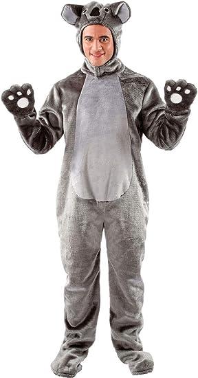 Disfraz Unisex de Koala Gris Gigante Mameluco Animal: Amazon.es ...