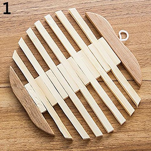 jhtceu Heat Resistant Fish Fruit Shape Bamboo Kitchen Bowl Pot Kettle Table Mat Coaster - Fish
