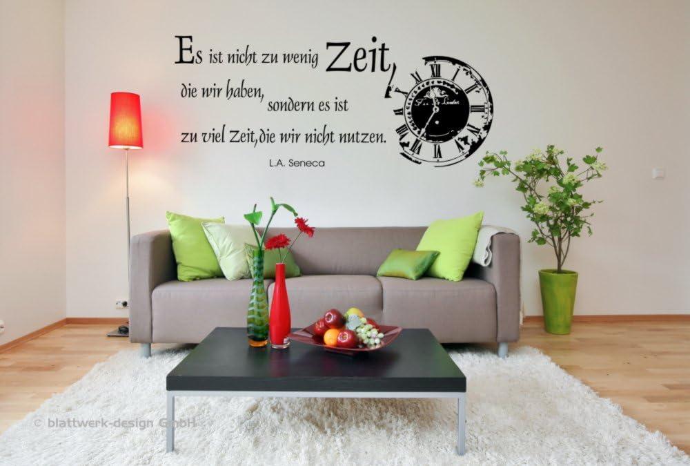 Follaje-design pegatinas de pared-tatuajes de pared con diseño de reloj: eso no Es de muy poco tiempo, la mayoría de tenemos ...: Amazon.es: Hogar