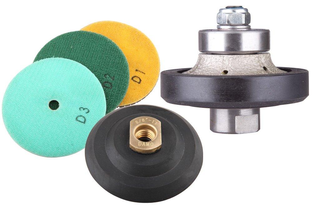 3/8'' Demi-bullnose Profiling & Polishing Kit/Kits for Granite / Concrete Edge Works