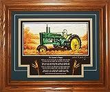 John Deere Model B Styled 1939-1946 FP Tractor Pictures Wall Decor Framed Art Farmer Gift
