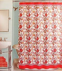 Amazoncom Peri Shower Curtain Fabric Boho Piasley 72 x 72 Pink
