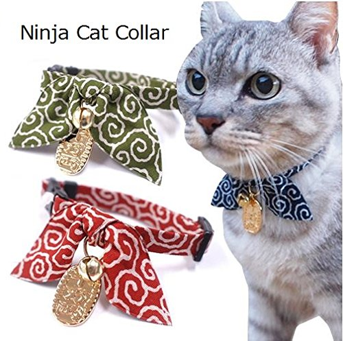 Necoichi Ninja Cat Collar Red product image