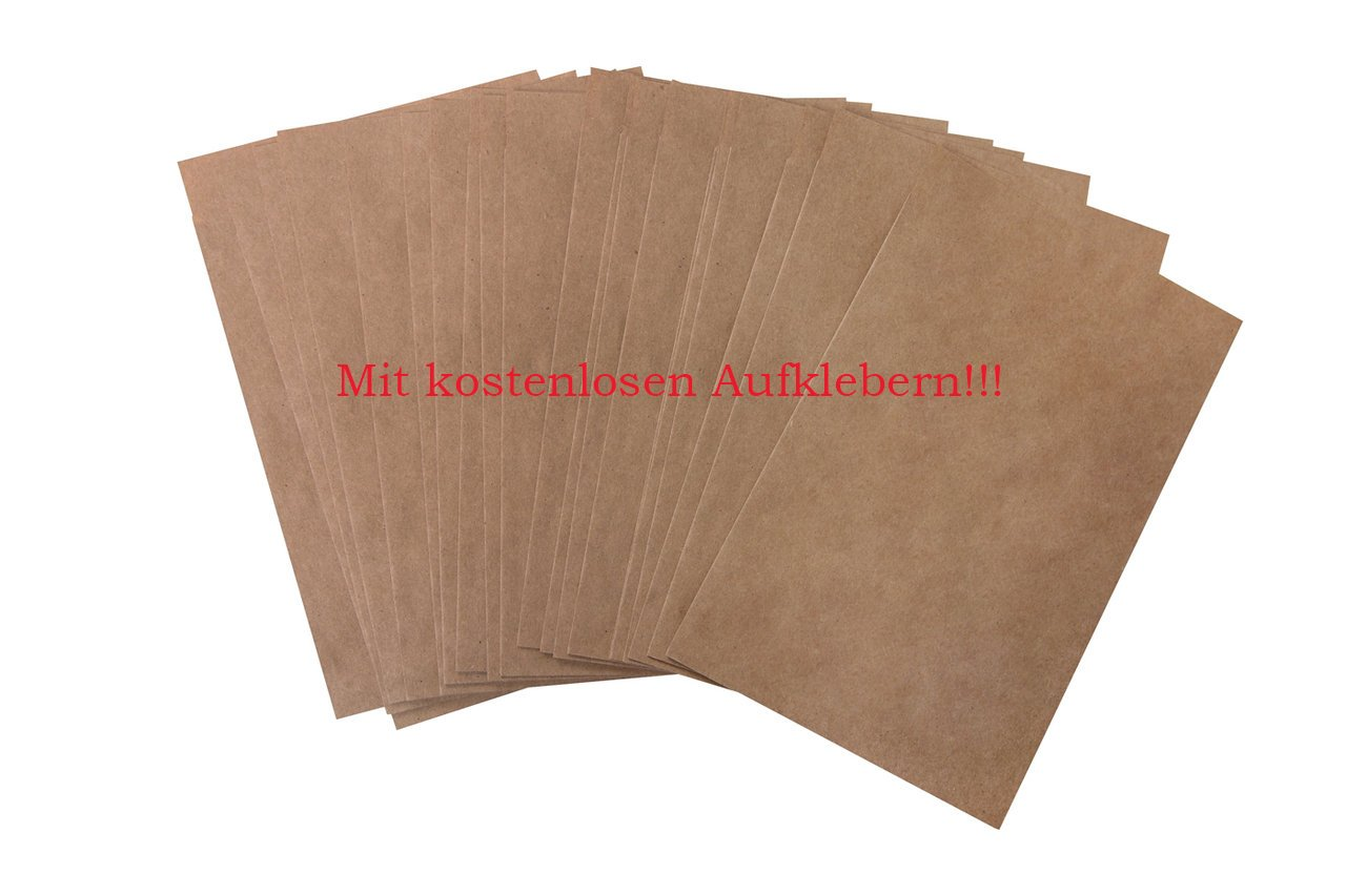 Lot de 100 petits sacs cadeau marron, 15 cm (10,5 x 2 cm); papiertütchen comme gastgeschenktüten véritable, pour calendrier de l'avent schmucktütchen anderes. bricolage et nous vous proposons aussi de nombreuses autres sachet. Jeanette Dietl