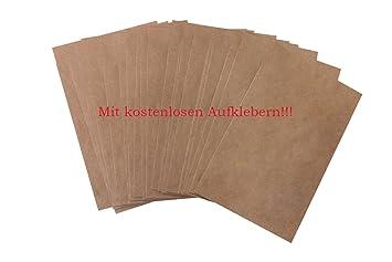 100 unidades pequeñas bolsas marrones bolsas papel kraft en papel 13 x 18 + 2 cm (lengüeta) Papel de bolsa de plano como del paquete para obsequios ...