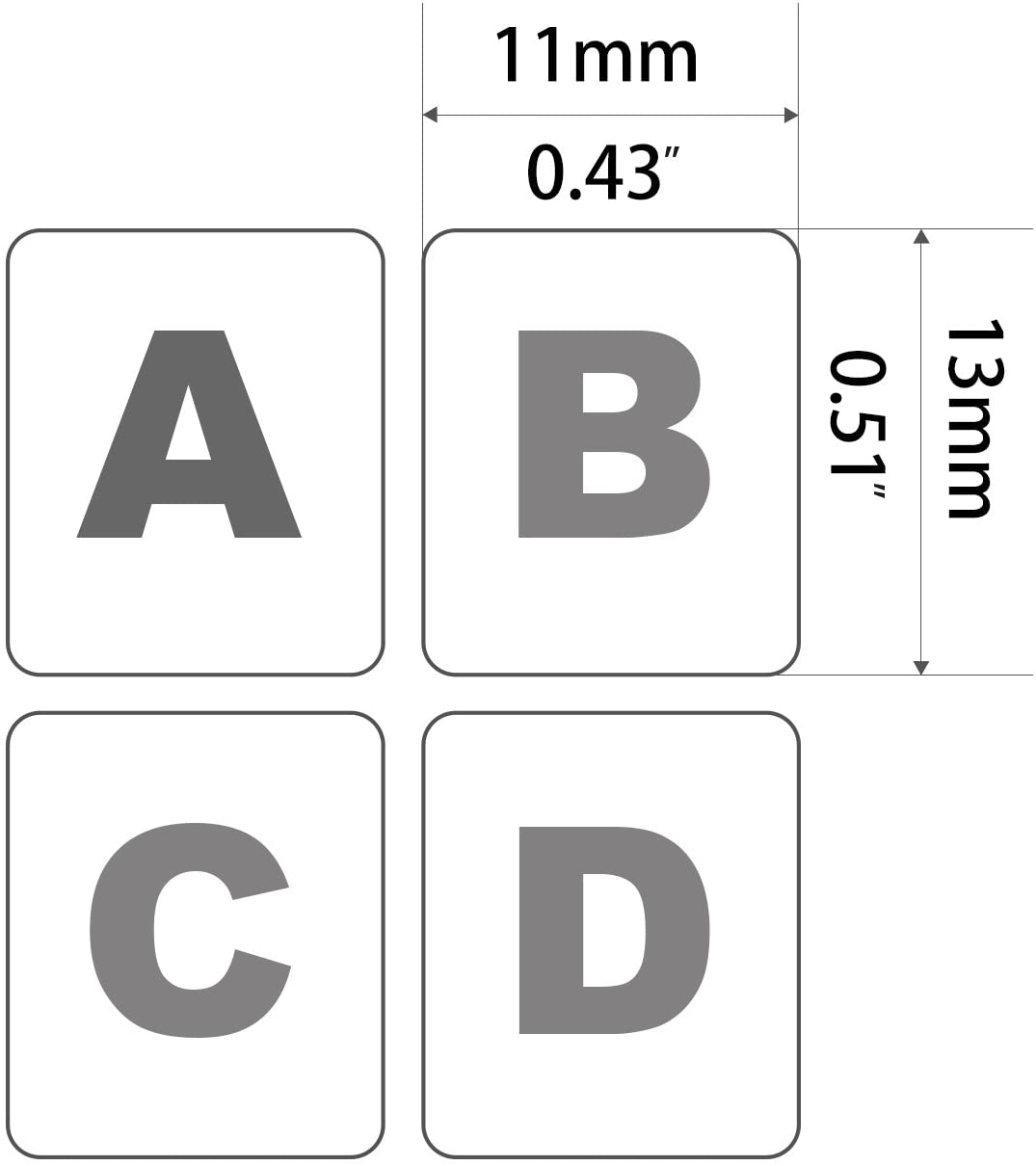 """FORITO Russian Keyboard Stickers 0.51/"""" Keyboard Replacement Sticker Black Background with Orange Lettering for Computer Keyboard Each Unit Size: Width 0.43/"""" x 2PCS Pack Height Matte"""