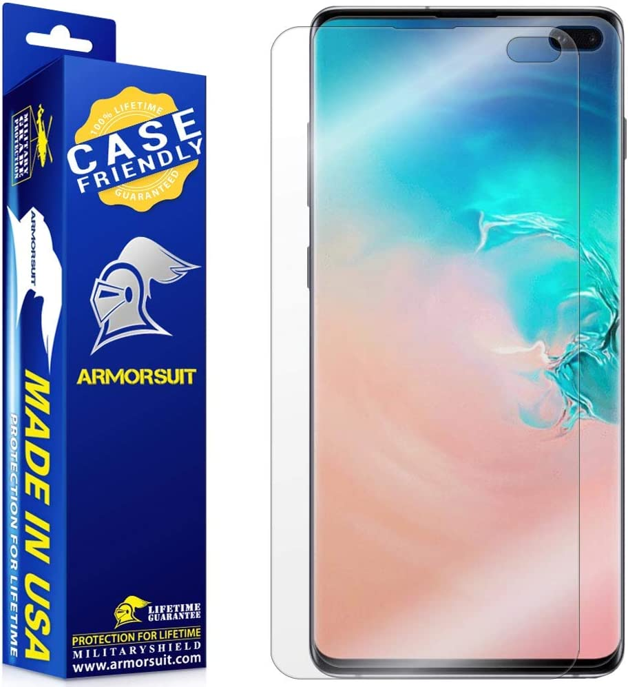 ArmorSuit MilitaryShield Screen Protector for Samsung Galaxy S10+ Plus (2 Pack)[Case Friendly] Anti-Bubble HD Clear Film