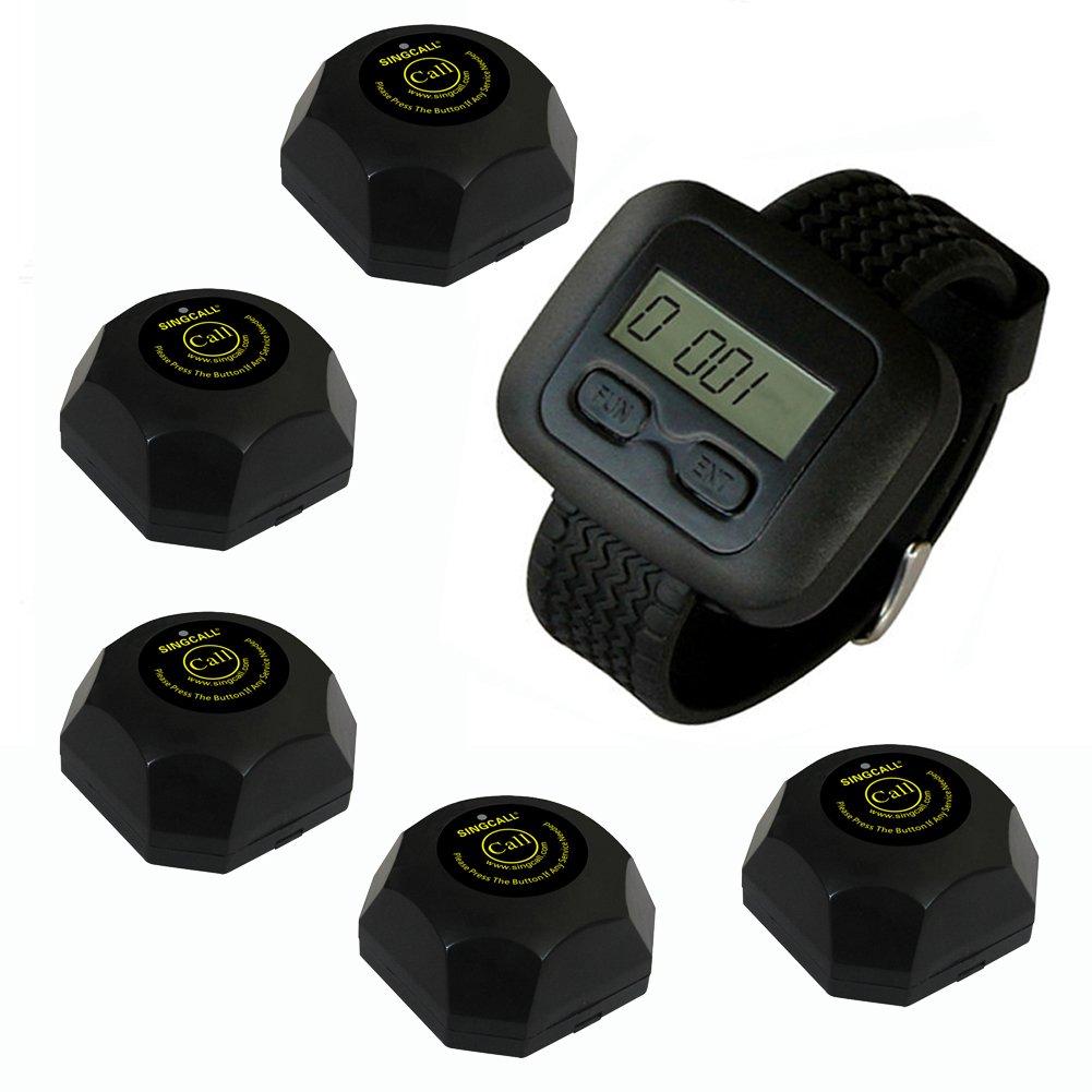 SINGCALL®.drahtloses Rufsystem von Kellner - drahtloses Übertragungssystem - Ruf hilfe - Dieser Artikel fasst 1 Armbanduhr