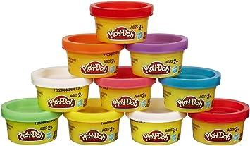 Play-Doh - Pack de 10 botes Party turm (Hasbro 22037E24): Play ...