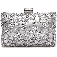 GESU Womens Crystal Evening Clutch Bag Wedding Purse Bridal Prom Handbag Party Bag.