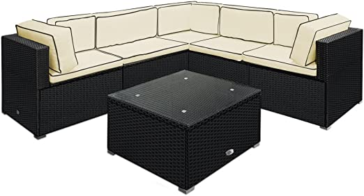 Deuba - Salon de Jardin • canapé et Table - en polyrotin ...