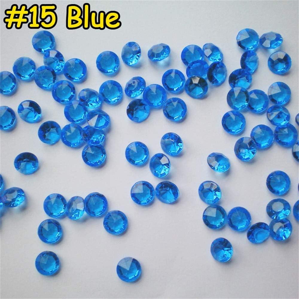 300X 10mm Deko Diamanten Dekosteine Acryl Kristalle Streuteile Tischdeko Hochzeit-Blau