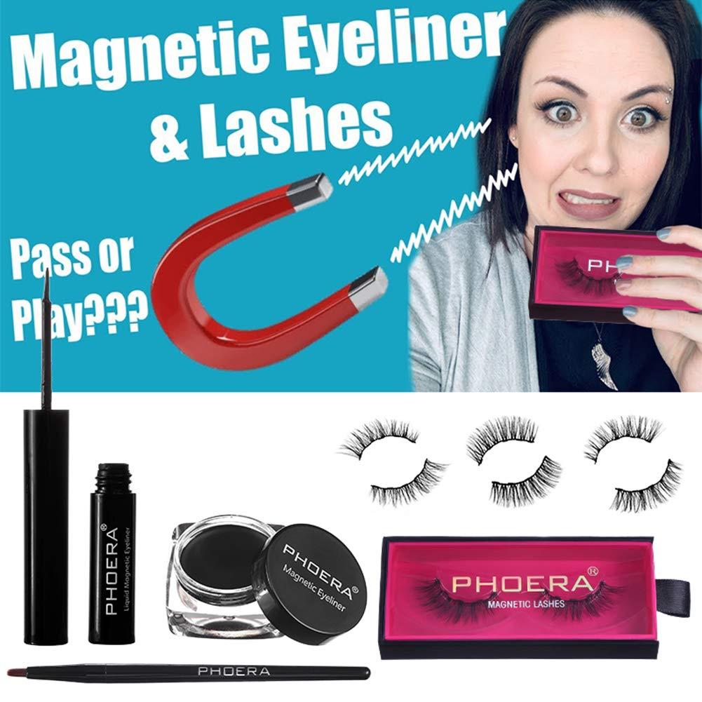 Amazon.com : Wishwin Eye Makeup Set Magnetic False Eyelashes ...