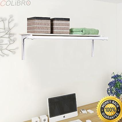 Walmart Utility Shelves Delectable Amazon COLIBROXWall Mount Folding Storage Shelf Utility Rack