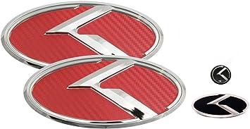 Fit: KIA 2014-2016 Forte Sedan , K3 , Cerato Blue K logo emblem 3pc SET