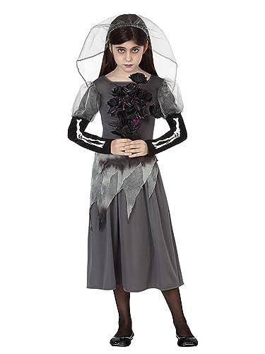 Atosa Disfraz de Novia Cadáver para niñas para Halloween: Amazon ...