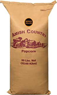 product image for Amish Country Popcorn | 50 LB Medium Yellow Popcorn | Old Fashioned with Recipe Guide (50lb Bag)