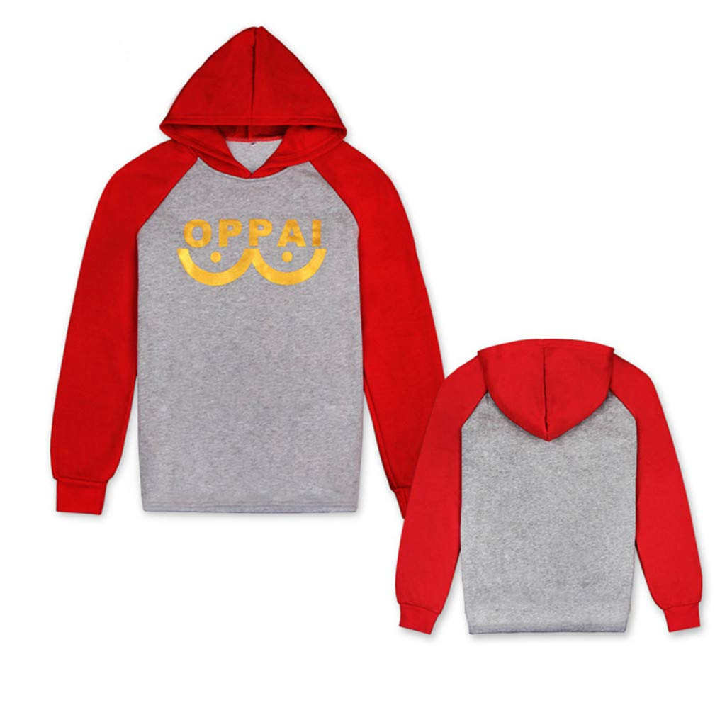 Cosstars One Punch Man Oppai Anime Hoodie Sweat /à Capuche Adulte Cosplay Pullover Sweat-Shirt Manteau Tops