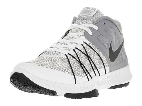 13266dbe2c90 Nike Men s Zoom Train Incredibly Fast White Black Stealth Wolf Grey  Training Shoe 7.5 Men